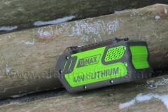 Elektrická řetězová akumulátorová pila Greenworks GWCS 4040i.