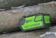 Akumulátor Greenworks40 V lithium-ion 4Ah G40B4 - Elektrická řetězová akumulátorová pila Greenworks GWCS 4040i.