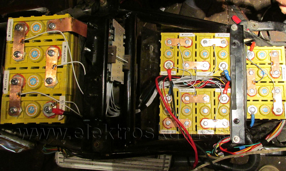 Simple battery management board 16cells 48V/60A pro elektroskútr IO 1500GT
