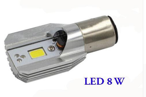 ElektrosHlavní světlo ledka 8W jako náhrada za žárovku 35W BA20D - náhrada hlavního světla v elektroskútru.kútr - výměna žárovek za ledky