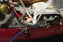 První zkušební zapojení - Elektroskútr  IO1500GT nová řídící jednotka.