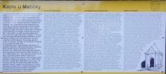 Bozkov, bozkovská studánka, Kaple U Matičky - informační tabule