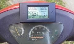 Kalibrace tachometru elektroskútru IO1500GT - počáteční stav kilometrů