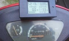 Kalibrace tachometru elektroskútru IO1500GT - konečný stav kilometrů