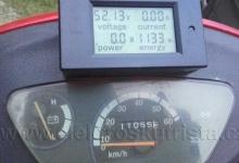 Přesná kalibrace tachometru elektroskútru IO1500GT- stav po dojetí