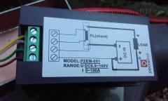 Obr. 1. Pohled na zapojení wattmetru. Měření rekuperace elektroskútru.