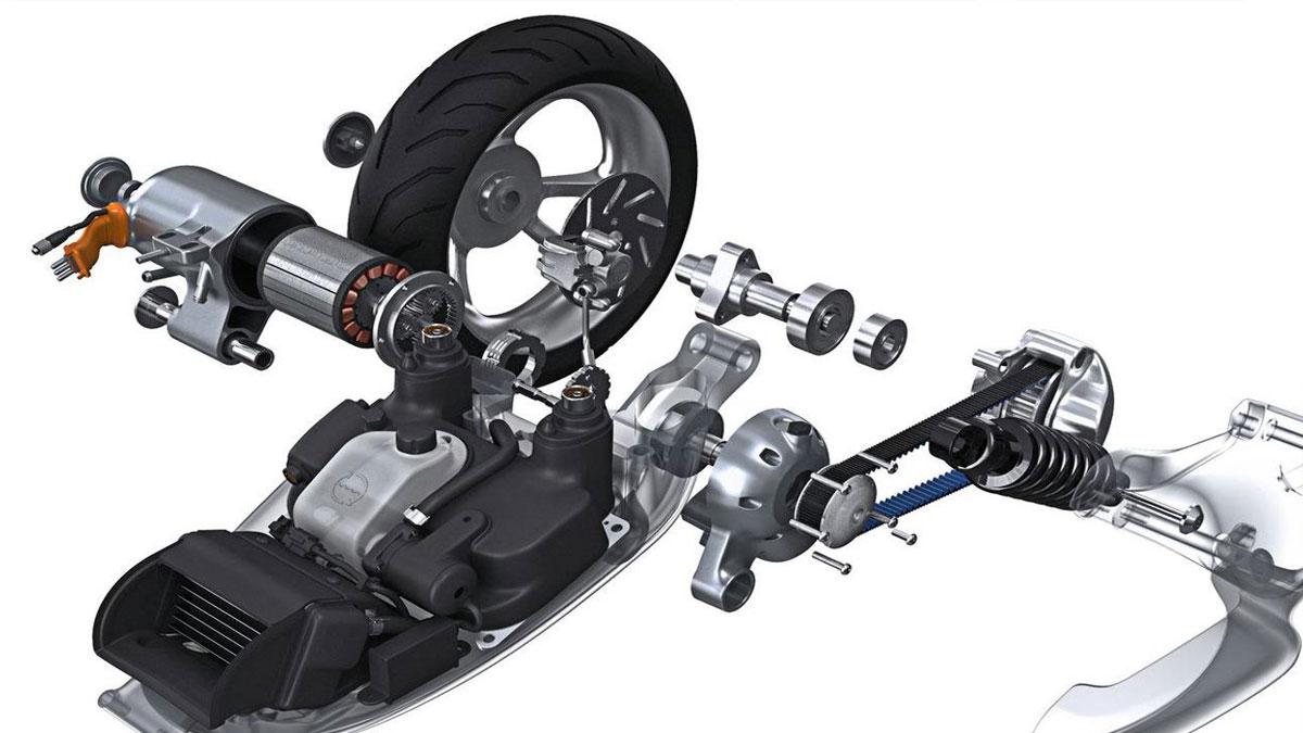 Gogoro 1 - vodou chlazený motor s převodem - elektroskútry