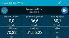 Záznam vzdálenosti a rychlosti - nejdelší jízda elektroskútru na jedno nabití v roce 2017.
