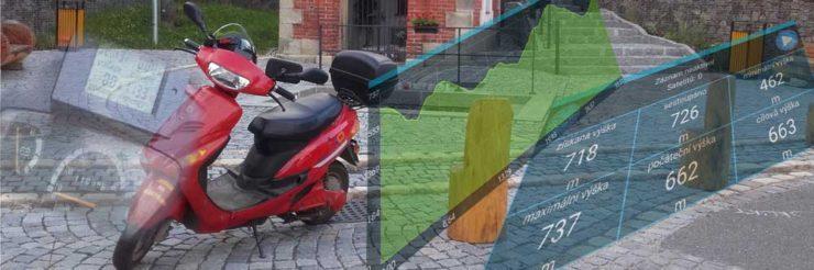 Elektroskutr - kalibrace tachometru výletem do Bozkova