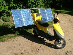 Solar electric scooter - bilditsolar.com