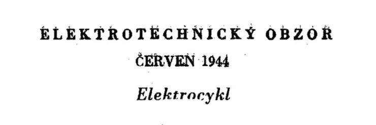 Elektrotechnický obzor - Rekuperace u elektrocyklu v roce 1944